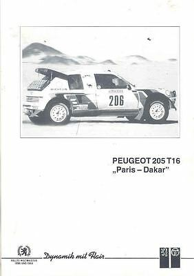 1986 Peugeot 205 T16 Turbo Paris Dakar Rally Brochure wf853-I5KHXO