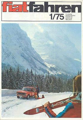 Jan 1975 Fiat Factory Magazine Germany wd3336-JGBLZO