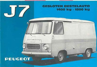 1967 Peugeot J7 Van Sales Brochure Dutch wd9107-IQJQAE