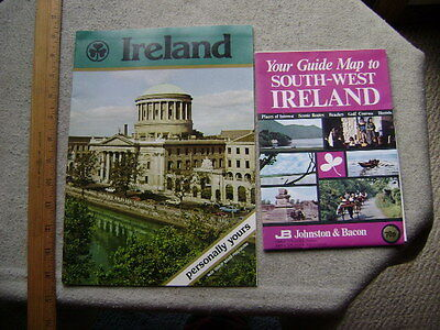 1970's Ireland Guide book and fold-out map to South-West Ireland.