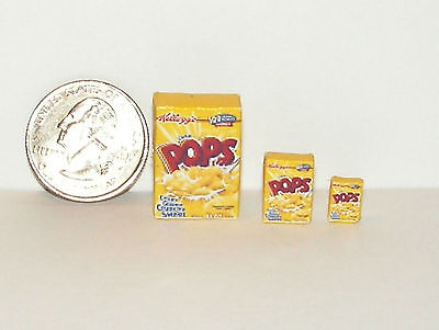 Dollhouse Miniature FOOD Breakfast Cereal Box Set 2 1:12 HNCC H86 Dollys Gallery