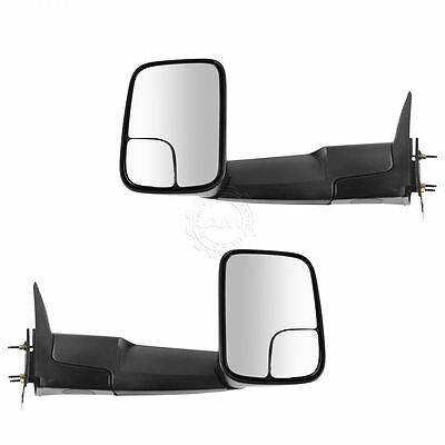 Mirror Towing Manual Left & Right Pair Set of 2 for Dodge Ram 1500 2500 3500