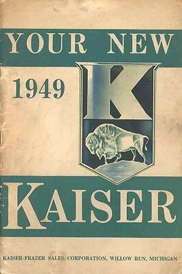 1949 Kaiser Owner's Manual wc1255-84Q167