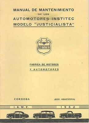 1952 Justicialista Owner's Manual Argentina wc1280-BP4S2C