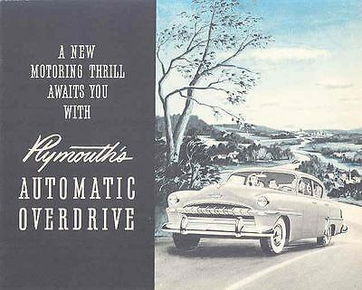 1953 Plymouth Automatic Overdrive Brochure mx884-QXF14U