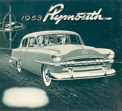 1953 Plymouth Brochure Poster mx888-8DHD7R