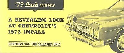 1973 Plymouth Fury Chevrolet Impala Salesman's Brochure mx1043-1LVX4H