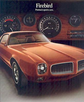 1973 Pontiac Firebird & Trans Am Brochure mx1210-W374ZX