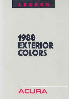 1988 Acura Legend Paint Colors Brochure mx1599-MHCKTA