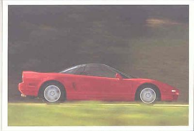 1992 Acura NSX Salesman's Note Card mx1623-I94KK5