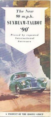 1953 Sunbeam Talbot 90 Saloon & Convertible Brochure mx2850-DKHGIY