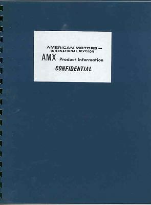 1968 AMC AMX Salesman's Product Info Book Brochure mx2932-E6OUGP
