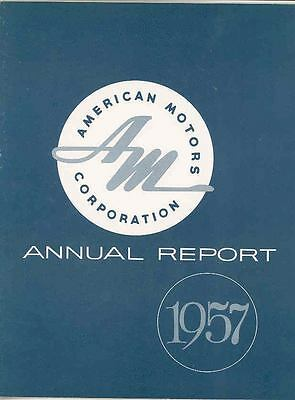 1957 AMC American Motors Annual Report Brochure Rambler mx3068-8OCD4I