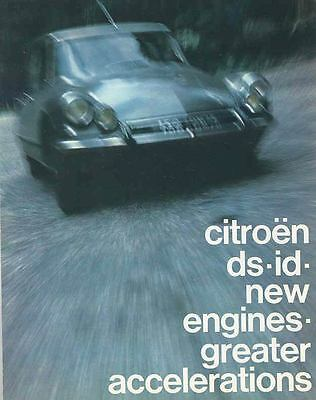 1965 Citroen ID19 ID21F DS19 DS21 Brochure mx3169-1HFBX5
