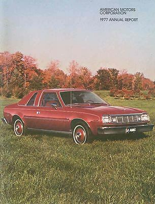 1977 AMC Annual Report Brochure 1978 Jeep Pacer Concord mx3183-5SLHFH