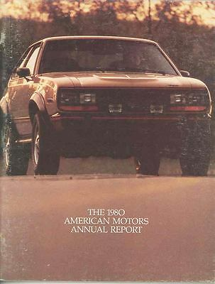 1980 AMC Annual Report Brochure 1981 Jeep Spirit Eagle mx3185-DO35AC