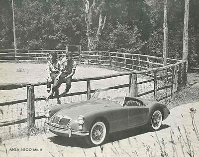 1962 MG MGA 1600 Mark II Brochure mx3191-GLEH6E