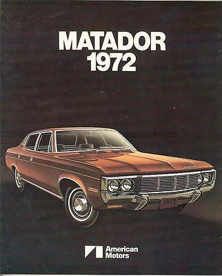 1972 AMC Matador Brochure Export mx3247-H9TFXP