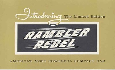 1957 AMC Rambler Rebel 327 Brochure mx3273-8GIAZF