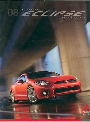 2008 Mitsubishi Eclipse GS GT Coupe & Spyder Brochure mx3461-K3O76F