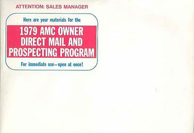 1979 AMC Salesman's Announcement Brochure Package mx3554-G36Q5E