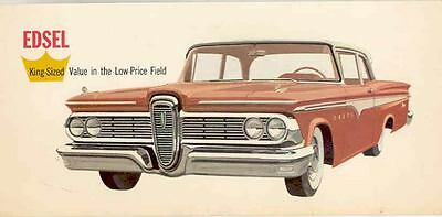 1959 Edsel Large Factory Postcard mx3669-9XG9G6