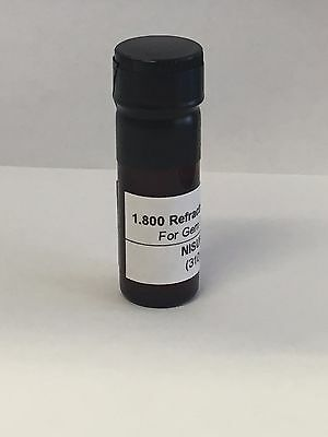 GEM Gemstone Refractometer Refractive Index Fluid Liquid 1.800, 12 GRAM USA MADE