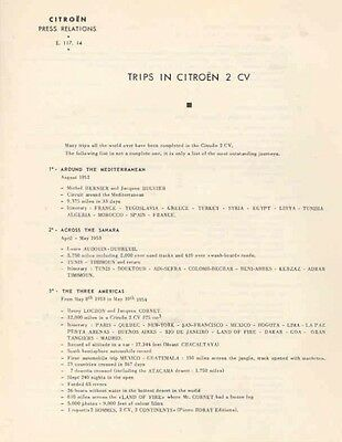 1952 Thru 1957 Citroen 2CV Sales Brochure wa3493-B6Y41N