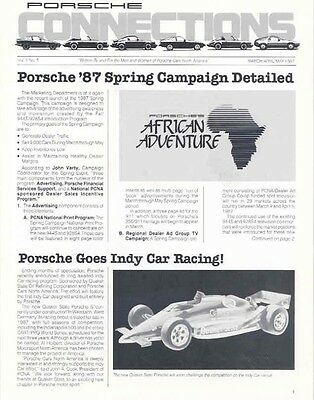 Mar 1987 Porsche of America Connections Magazine Indy wa8400-ML3XVS