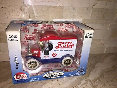 Gearbox Goodyear  Diecast Pepsi Limited Edition Coin Bank Free Usa Shipping