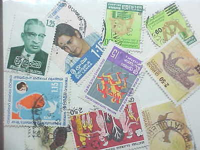 10 Different Sri Lanka Stamp Collection - Lot