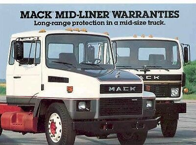 1985 Mack Mid Liner MS CS Truck Postcard pc540-21RTH5