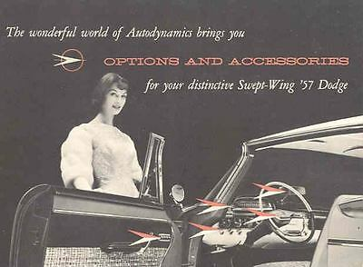 1957 Dodge Accessories Brochure Highway Hi-Fi SeatBelts y232-6OKZMO