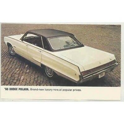 1968 Dodge Polara Original Factory Postcard mx4192-W2PT87