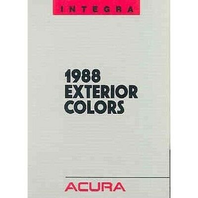 1988 Acura Integra Paint Colors Sales Brochure my72-PCWFOI