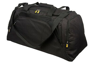 Mens Large Black Sports & Gym Duffle Holdall Bag SPORTS TRAVEL WORK / MIG 26