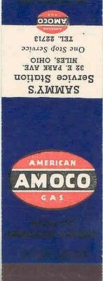 1940's 1950's Matchbook Cover Amoco Gasoline mb1070-QUXF4S