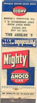 1940's 1950's Matchbook Cover Amoco Gasoline mb1147-MZZ6ZY