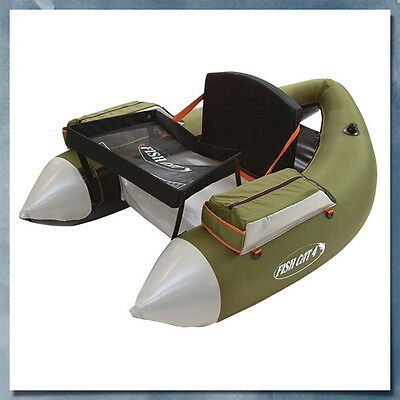 Outcast FISH CAT 4 DELUXE Float Tube, Olive - Low International Shipping Rates!