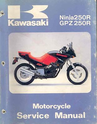1986 Kawasaki Ninja 250R GPZ250R Motorcycle Original Repair Manual mo477-3OHEPE