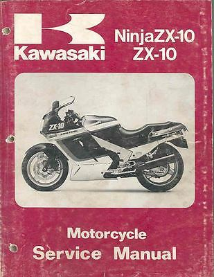 1988 1989 1990 Kawasaki Ninja ZX10 ZX10 Motorcycle Repair Manual mo525-IO8H5V
