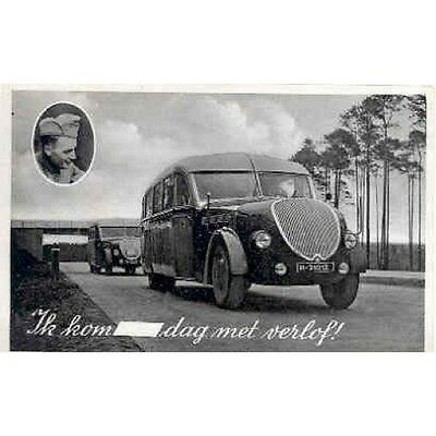 1936 Bussing Bus Real Photo Postcard mp5369-YWTXE5