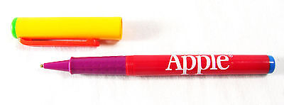 Vintage Apple Computer Pen, Rainbow Logo Colors c.1980's Made in Germany