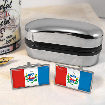 Alagoas Flag Brazil Cufflinks & Box