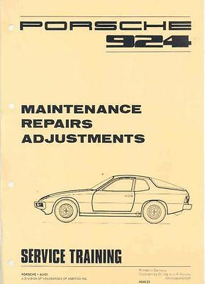 1977 Porsche 924 Service Manager's Manual x5614-6SV4RE
