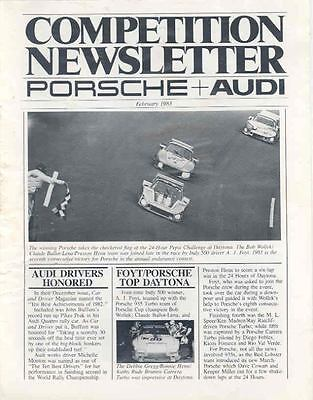 February 1983 Porsche & Audi Competition Newsletter x5748-VNOKB6