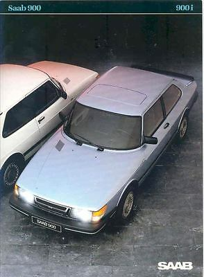 1984 Saab 900 i Sales Brochure Dutch x6467-45Y4G6