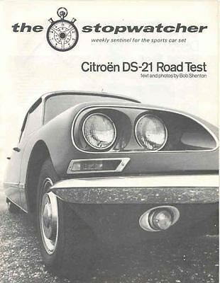 1968 Citroen DS21 Sales Brochure x6926-8FVQSK