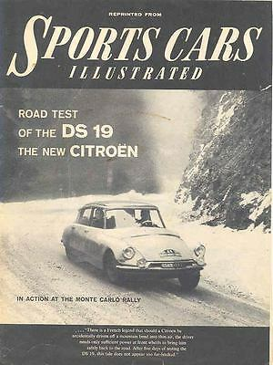 1956 Citroen DS19 Sales Brochure x6993-3QZP7B