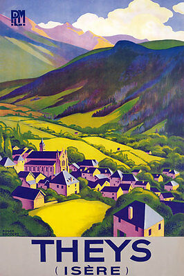 TX179 Vintage THEYS Isere French France Travel Poster Re-Print A4